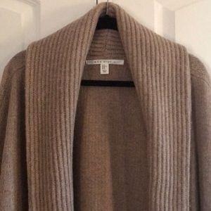 Max Studio Wool Blend Cardigan Duster Sweater